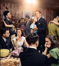 Teenagers in the 1950's.