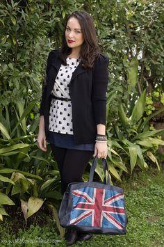 Bandiera inglese e procioni #outfit #fashionblogger #curvy