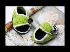 鉤針編織寶寶鞋 新款鞋底 - YouTube