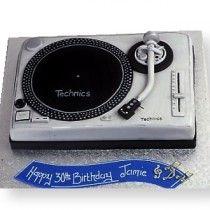 Record Deck Cake