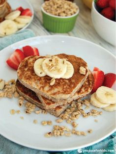Whole Wheat Banana Crunch Pancakes PancakesHealthy Meals For KidsHealthy Breakfast