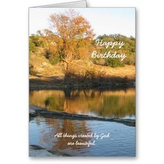 Birthday Greeting Cards | Religious Christian Birthday Greeting Card - River from Zazzle.com