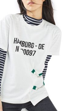 Topshop Topshop Hamburg Buckle Tee available at #Nordstrom
