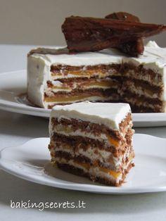 Cookie, Mascarpone & Peach Layer Cake