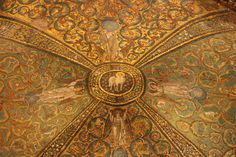 Ceiling of Justinian's church in Ravenna, Italy.