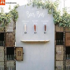 Loving this idea 😍 the old school lockers to store the glasses, amazing idea // we love it when a couple comes with an amazing idea for us to recreate, if you can think it we will try to make . #Repost from @lazy_bride_weddings 💓 You