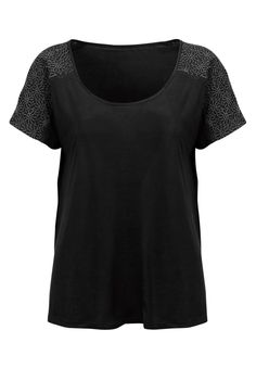 Mary Plus Size Lace shoulder tee