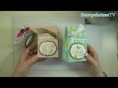 Tutorial - Verpackung mit dem Simply Scored Falzbrett von Stampin' Up! papercraft video, gift boxes, tutorials, verpackung mit, von stampin