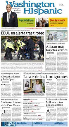 Edición impresa del 24 de Octubre de 2014: http://washingtonhispanic.com/index.php?mod=historico&id=369
