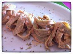 Tallarines con Salsa de Almendras