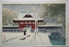 Kawase Hasui, Shiba Park in Snow