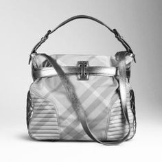 Burberry silver nova check LARGE bag - amazing!! Couture 3d84017889cfc