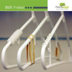 3 tips= non-slip coat hangers  1. Wrap pipe cleaners around the hanger. 2. Wrap a rubber band around the edge of the hanger. 3. Place a small amount of silicone glue on the hanger. Make sure it is properly dry before using the hanger #DIY #lifehack #tip