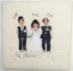 personalised wedding art by red cat handmade