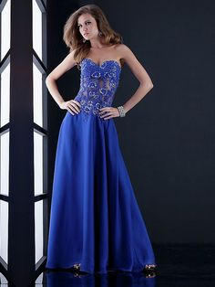 Column Midnight Strapless Open Back Long Prom Dress With Lace