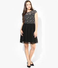 Vero Moda Black Casual Skater Dress