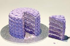 Purple Ombre Cake. How lovely.