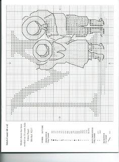 Schema punto croce Alfabeto Bimbi M