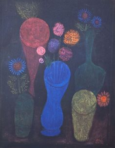Paul Klee (1879-1940) Limited Edition Lithograph | Flowers in Glasses