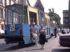 KRAKOW TRAMS 1992 POLAND - YouTube