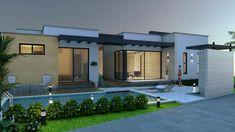 Plano de casa campestre, diseño moderno en un piso, 245 M2