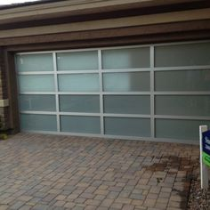 Frosted glass garage door - Would love this for a detached garage