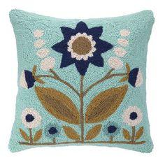Peking Handicraft Parklife Hook Wool Throw Pillow