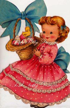 Happy Easter To a Beautiful Little Girl by poshtottydesignz, $2.75