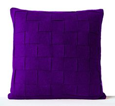 Purple Felt Pillowcases - Felt Weave Pillows Covers- Throw Pillow Covers- Decorative Pillows Cases- Gift- Felt Square Pillow Cover - Modern Decor - Chair Pillow Covers- Wool Pillow Covers - Purple Felt Pillow Cover - Purple Throw Pillows - Woollen Pillow Cover - Bedding - Winter Decor - Wedding Gift - Anniversary Gift - Modern Decor - Textured Pillow Covers (16x16) Amore Beaute http://www.amazon.com/dp/B00PDEH9XY/ref=cm_sw_r_pi_dp_MVnrvb0D66X41