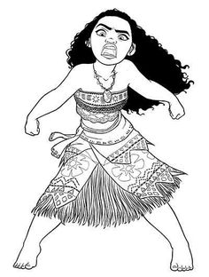 Unlike the other typical Disney princesses, Moana is portrayed as a brave, unique and ambitious princess to realize her dreams. Pattern Coloring Pages, Animal Coloring Pages, Coloring Pages To Print, Coloring Book Pages, Printable Coloring Pages, Moana Disney, Disney Art, Baby Disney, Little Moana