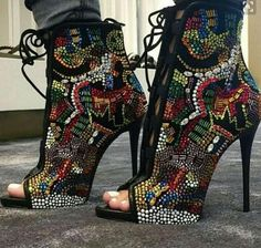 449c13f73ceefe 2016 Bling bling peep toe crystal women ankle boots colorful rhinestine  high heel boots lace up