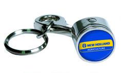 R&D Enterprises Piston Keychain: New Holland