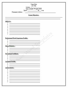 blank resume forms to fill out httpwwwresumecareerinfoblank resume forms to fill out 4 resume career termplate free pinterest resume form