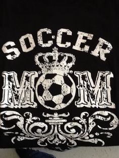 Soccer mom boutique style Tshirt with hand applied crystals - Find Youth Soccer Fundraising Ideas at http://www.abcfundraising.com