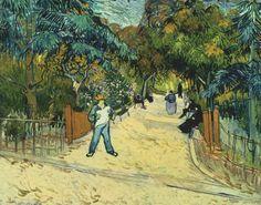 Entrance to the Public Garden in Arles, 1888. Vincent van Gogh ·