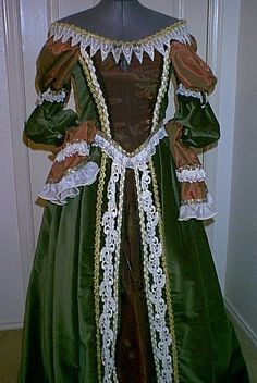 Green Velvet Renaissance Costume by customecostumer on Etsy, $300.00
