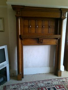 Oak fire surround - Arts and Crafts