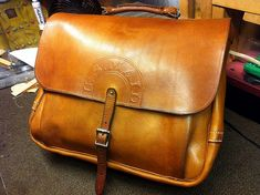 Vintage 1948 Mail Bag Restored by Voodoo Custom Leather | Flickr