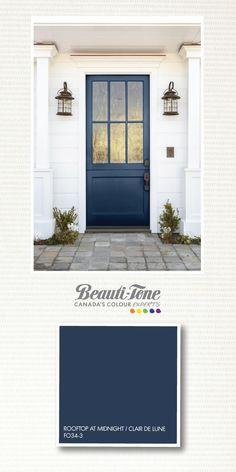 Like the front door color. House Paint Exterior, Exterior Paint Colors, Exterior House Colors, Exterior Design, Front Door Paint Colors, Painted Front Doors, Paint Colors For Home, Paint Colours, House Doors