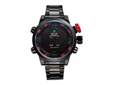 Cheap watch repair tool set, Buy Quality watch directly from China watch bike Suppliers: WEIDE Top Brand Men LED Sport Watch Analog Digital Display Waterproof Stainless Steel Quartz Movement Wristwatch Men Gifts Casual Watches, Cool Watches, Watches For Men, Men's Watches, Wrist Watches, Waterproof Sports Watch, Led Watch, Mens Sport Watches, Shark Tank