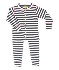 Take a look at this Black & White Organic Wool Playsuit - Toddler & Kids by Nui Organics on #zulily today!