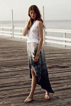 Seascape Maxi Skirt - anthropologie.com