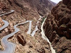 nice Picture of a winding road in Morocco... Check more at http://www.discounthotel-worldwide.com/travel/picture-of-a-winding-road-in-morocco/