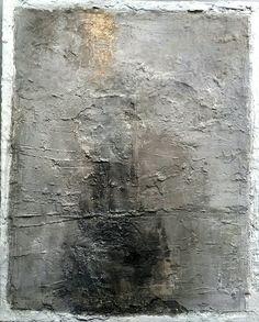 80x100 grau mischtechnik Sonja Bittlinger