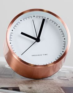 Aurelia alarm clock, £15 MADE.COM All our clocks use a Quartz accuracy mechanism, with a ticking motion. Invented in 1927, it's still the best timekeeping device for consumer products.