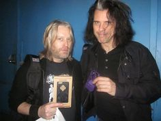 Chris Wyse of The Cult and Alex Skolnick of Testament with their RokForm mountable case | www.rokform.com