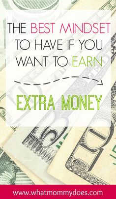 Most people sabatoge themselves before they ever even start earning extra money. Whether  you need to make extra money to pay for vacation, Christmas presents, make ends meet, or make your mortgage payment, there is a certain mindset you MUST HAVE. Figure this out and you'll be on your way to earning extra money for your family no matter which money making idea you decide to pursue!!!!
