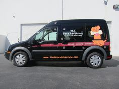 Ford Transit Connect Van for Pure & Simple.  Wrapped in logo.