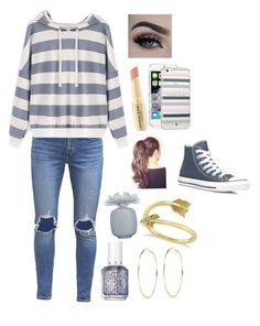 """Read Between the Lines"" by awesomel4125 on Polyvore featuring Levi's, Converse, Kate Spade, River Island, Allurez, Napoleon Perdis, Essie and Les Parfums De Rosine"