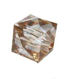 Würfel, 12-eckig, 13mm, Kunststoff transparent-braun